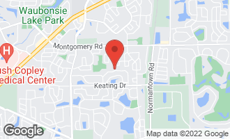 Map of 2946 Diane Drive AURORA, IL 60504