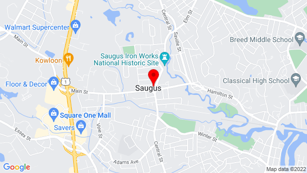 Google Map of 295 Central st., Saugus, MA 01906