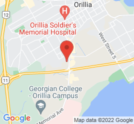 Google Map of 295+Memorial+Ave%2COrillia%2COntario+L3V+5Y1