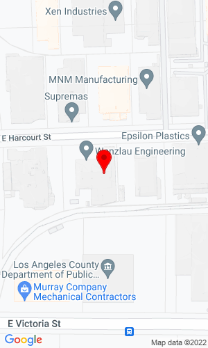 Google Map of Power Trip Rentals, LLC. 2950 E. Harcourt St., Compton, CA, 90221-5502