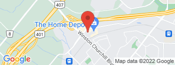 Google Map of 2950+Argentia+Road%2CMississauga%2COntario+L5N+8C5