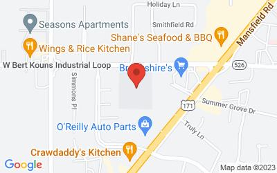Map of 2955 Bert Kouns Industrial Loop, Shreveport, LA, USA