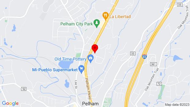 Google Map of 2969 Pelham Pkwy, Ste 1, Pelham, AL 35124