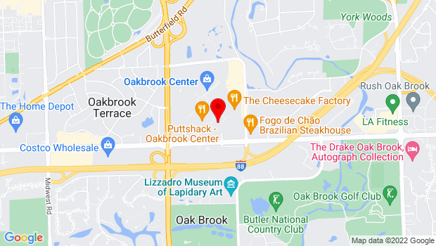 Google Map of 298 Oakbrook Center, Oak Brook, IL 60523