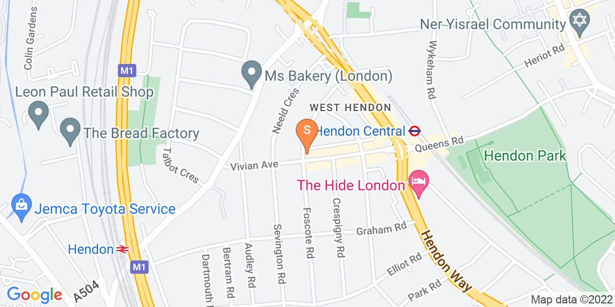 Google Map of 2a Rundell Crescent London NW4 3DA