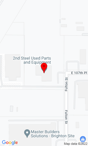 Google Map of 2nd Steel Used Equipment & Parts 10707 Fulton Street , Brighton, CO, 80601