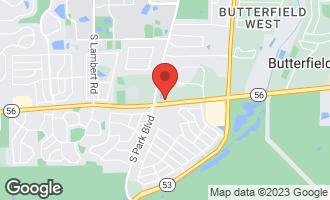 Map of 2S758 Lakeside Drive GLEN ELLYN, IL 60137