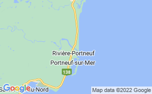 Map of Camping Portneuf-Sur-Mer