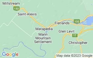 Map of Camping Matapédia