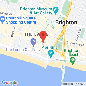 Location of Cloud Gallery - Brighton