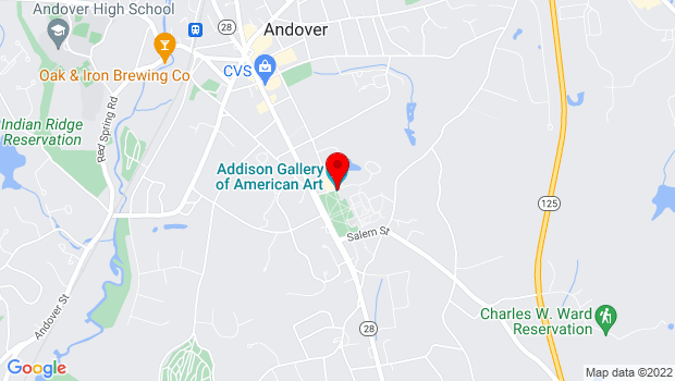 Google Map of 3 Chapel Ave, Andover, MA 01810