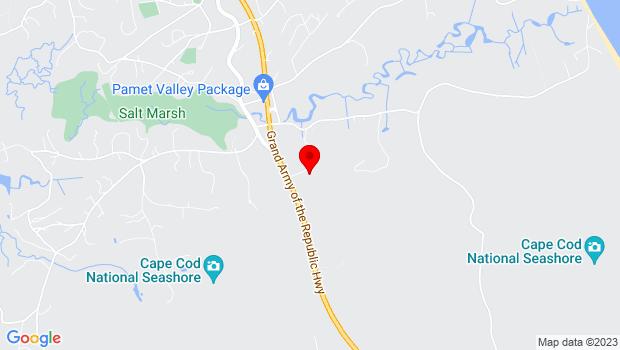 Google Map of 3 Edgewood Way, Truro, MA 02666