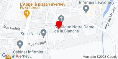 Google Map of 3 Place de la République, Faverney