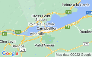 Map of Campbellton RV Camping