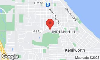 Map of 3 Golf Lane WINNETKA, IL 60093
