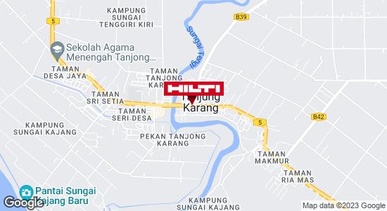 Get directions to Pusat Bandar Tanjong Karang