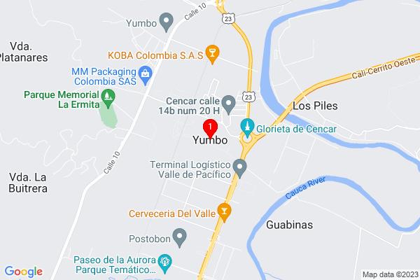Google Map of 3.545337,-76.495026