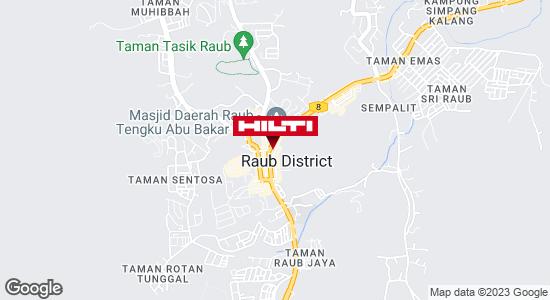 Get directions to Pusat Perniagaan Raub