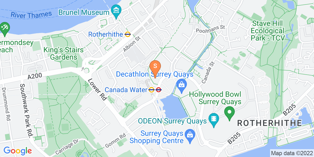 Google Map of 30 - 32 Surrey Quays Road London SE16 7ED
