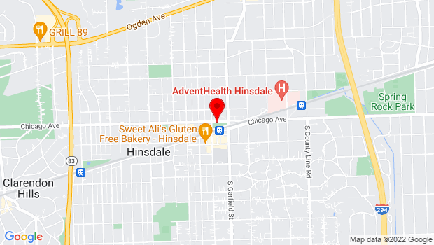 Google Map of 30 East Chicago Avenue, Hinsdale, IL 60521