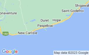 Map of Camping Paspébiac-Sur-Mer