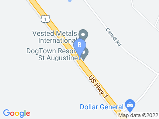 Map of Dog Town USA Dog Boarding options in Saint Augustine | Boarding