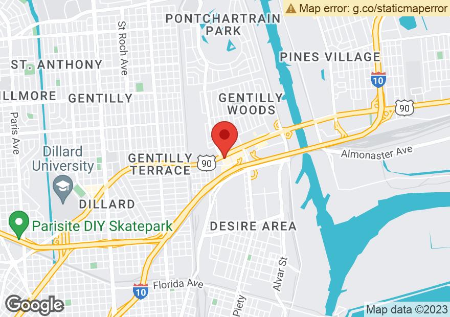 Google Map of 4200 CHEF MENTEUR HWY