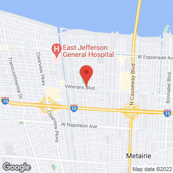 Map of Arby's at 3847 Veterans Memorial Blvd, Metairie, LA 70002-5607
