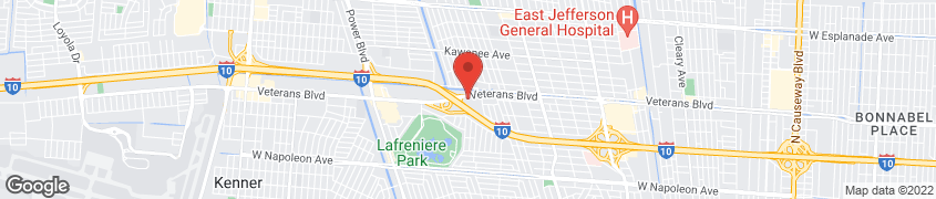 Mapa de 5910 Veterans Memorial Blvd en Metairie