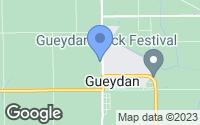 Map of Gueydan, LA