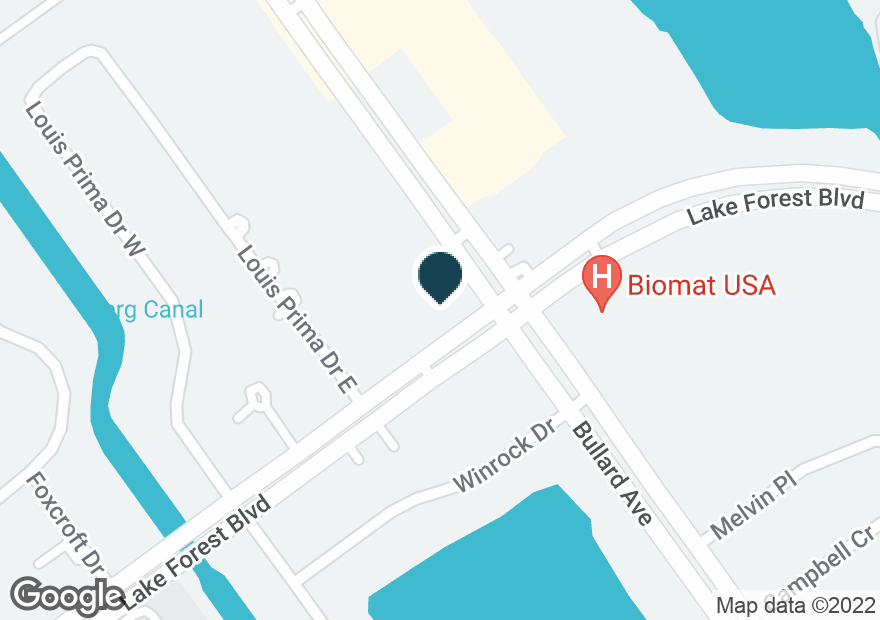 Google Map of11297 LAKE FOREST BLVD