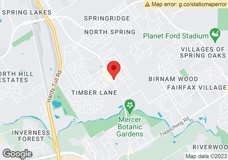 Google Map of 23110 ALDINE WESTFIELD RD