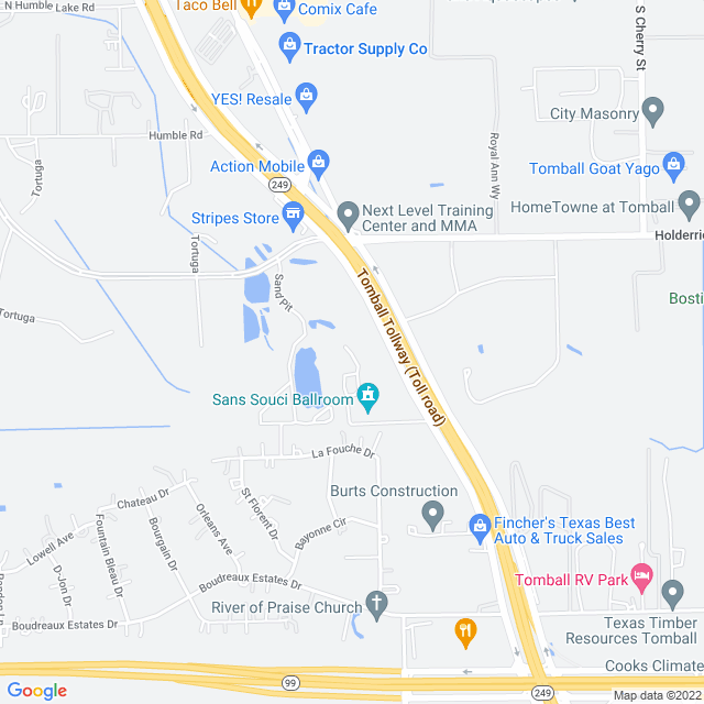 Map of Tomball Tollway
