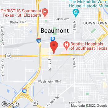 Map of Dawn Polk, NP at 3570 College, Beaumont, TX 77701