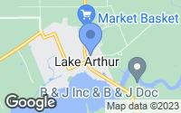 Map of Lake Arthur, LA