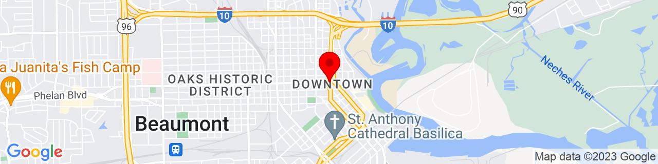 Google Map of 30.08611111111111, -94.10194444444444