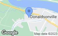 Map of Donaldsonville, LA