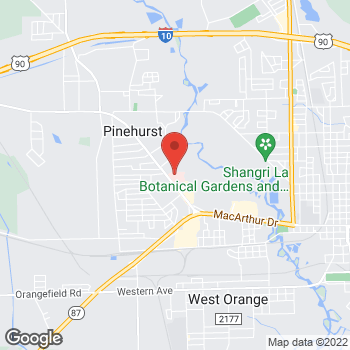 Map of Michael Thomas, MD at 610 Strickland Drive, Orange, TX 77630