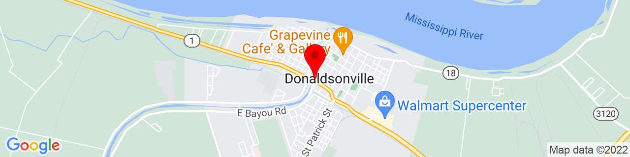 Google Map of 30.1010323, -90.9928773