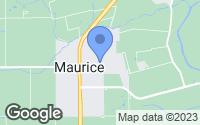 Map of Maurice, LA