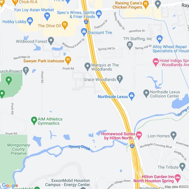 Map of I 45 N (N Freeway) HOT Lanes