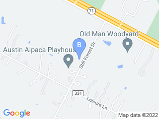 Map of A Dog E Spa Resort Dog Boarding options in Cedar Creek | Boarding