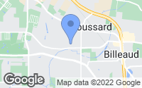 Map of Broussard, LA
