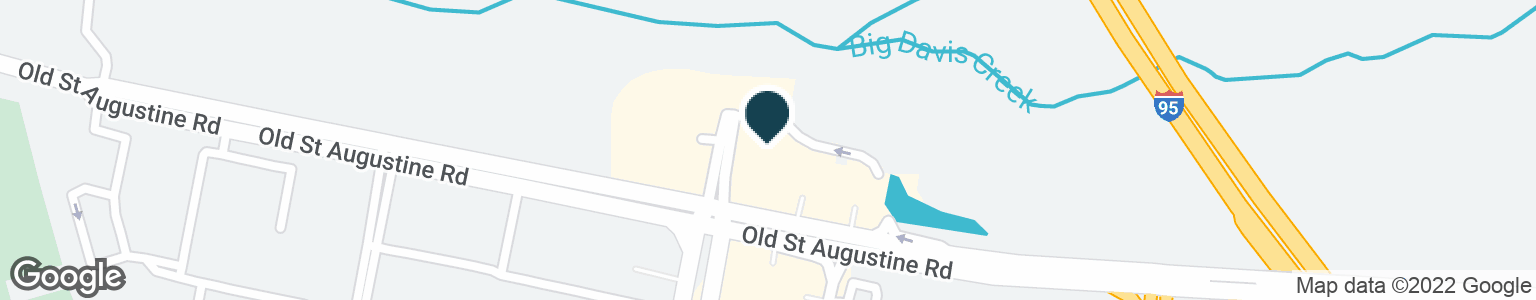 Google Map of13905 OLD SAINT AUGUSTINE RD
