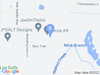 Map of Circle K9 Dog Boarding options in Magnolia | Boarding