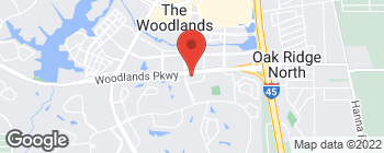 Map of 1610 Woodstead Ct in The Woodlands
