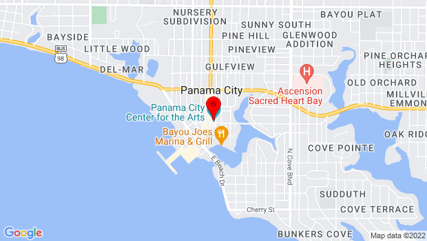 Google Map of 19 E 4th St, Panama City, FL 32401