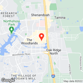 Map of LOFT at 1201 Lake Woodland Drive, The Woodlands, TX 77380