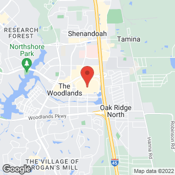 Map of 1201 Lake Woodlands Dr in The Woodlands