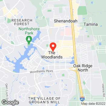 Map of Ann Taylor at 9595 Six Pines Drive, The Woodlands, TX 77380